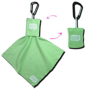 Microfiber Key Chain Cleaning Cloth